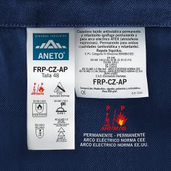 Cazadora FRP-CZ-AP antiestática permanente, ignífuga-retardante permanente para arco eléctrico